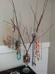 a jewelry tree cheap and functional jewelry display hometalk
