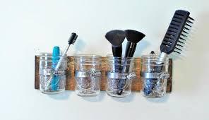 Mason Jar Bathroom Organizer Mason Jar Bathroom Makeup Organizer U2013 Twin Oak Rustics