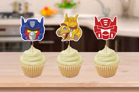 transformer cake toppers angry bird transformers party cupcake toppers printables