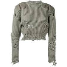 adidas crop top sweater yeezy destroyed cropped jumper adidas originals polyvore