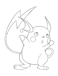 raichu coloring pages free printable pikachu coloring pages for