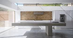 béton ciré sol cuisine design interieur plan travail béton ciré sol assorti crédence