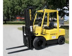 6 500 lb hyster h65xm pneumatic forklift st louis