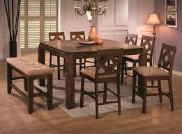 counter height dining table with bench counter height dining table seats 8 captivating tall dining table