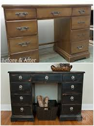 Old Bedroom Set Makeover Before And After Desk Distressed Using 100 Beeswax Easy Tutorial