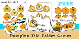 free thanksgiving printable pack pumpkin file folder