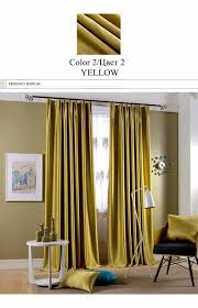 Chartreuse Velvet Curtains by Sparkle Blue Blakcout Curtains For Living Room Flocked Modern