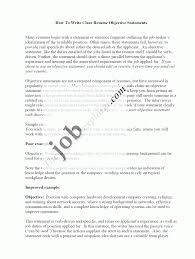 Job Resume Objective Statements by Sample Of Resume Objective Statements Free Resume Example And