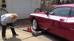 Dodge Challenger Used - in a pinch weld flat style jack adapter used on dodge challenger