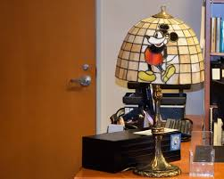 mickey mouse tiffany lamp in the disney archives