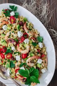pasta salad shrimp avocado mediterranean pasta salad the mediterranean dish