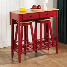Furniture Bar Stool Chairs Backless by Furniture Piece Bar Table Sets In Red With Rectangular Made Of