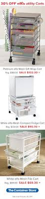 gift wrap cart compact mobile and simply brilliant from our elfa mesh gift