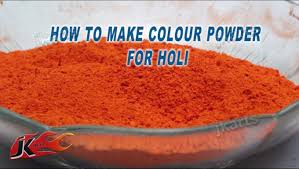 diy how to make colour powder for holi jk arts 170 youtube