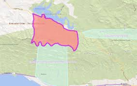 Solvang Map Whittier Fire Near Cachuma Lake Burns 10 823 Acres As Of Monday 5