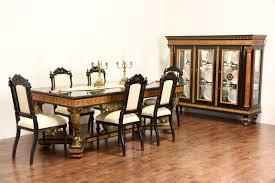italian neoclassical 1930 s vintage china cabinet burl columns burl columns photo 3