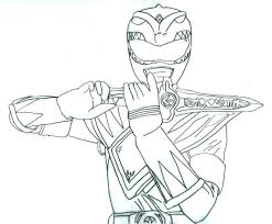 mighty morphin power rangers green ranger coloring pages mighty