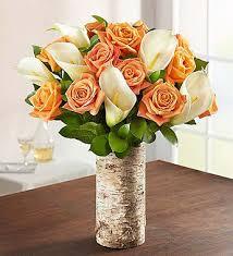 Calla Lily Bouquets Autumn Rose U0026 Calla Lily Bouquet 1800flowers Com 90616
