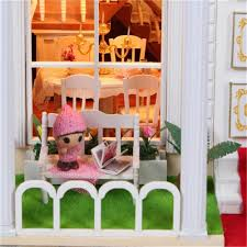 Diy Wood Furniture Hoomeda Diy Wood Sweet Home Dollhouse Miniature With Led Music