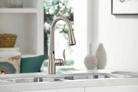 mirabelle kitchen faucets mirabelle faucets faucetcom in brushed nickel by mirabelle