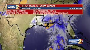 Louisiana Weather Map by Tropical Storm Cindy Named Latest Forecast Here