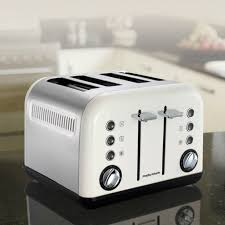 White Kettles And Toasters Morphy Richards 242005 Accents 4 Slice Toaster White Kettle And