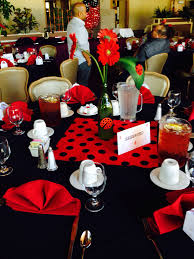 ladybug baby shower tables i decorated for my in laws baby shower ladybug theme