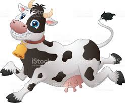 happy cartoon cow stock vector art 614997924 istock