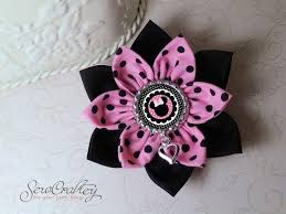 minnie mouse hair bow minnie mouse hair bow fabric flower hair clip sewcraftey
