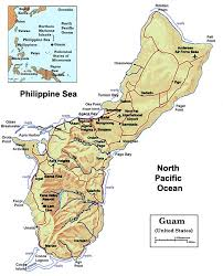 guam on map maps the us pacific island territory of guam
