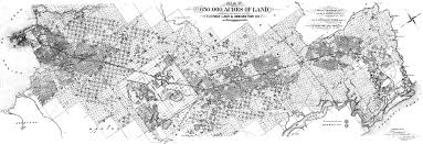 a map showing the 65 000 acres of land owned and controlled by the