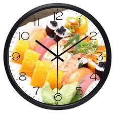 horloges murales cuisine japon sushi exquis alimentaire horloge murale la nouvelle maison