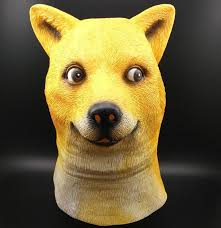 Doge Meme - shiba inu doge dogs mask wow doge meme mask kabosu face latex