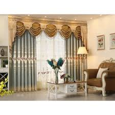 Valance Curtains For Bedroom Blue And White Botanical Print Linen Country Curtains For Living Room