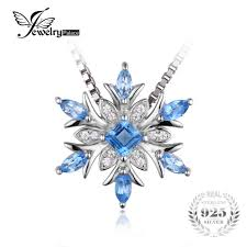 natural topaz necklace images Wholesale jewelrypalace snowflake genuine nbsp blue topaz solid jpg