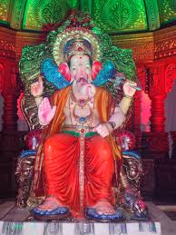 home decoration of ganesh festival ganesh chaturthi parel cha raja gsb mandal tilak nagar
