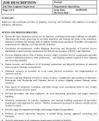 shipping and receiving job description freight associate resume