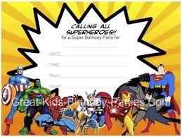 free printable avengers birthday party invitations avengers free