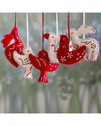 bargains on wool ornaments wishes set of 6 india