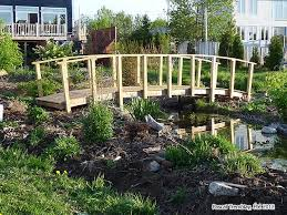 How To Make Backyard Pond by Homemade Bridges Over Creeks Build Arched Bridge For Pond Stream