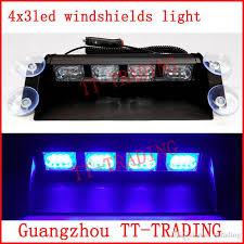 Led Emergency Dash Lights 12 Led Police Strobe Lights Car Dash Board Windshields Lamp