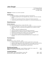 How To Write A Resume For Kids Kitchen Skills For Resume