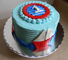ultimately chocolate cakes simple nautical theme birthday cake