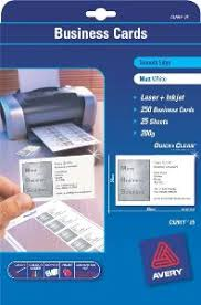 Avery Laser Business Cards Avery 936230 C32026 Quick Clean Satin White Colour Laser Double