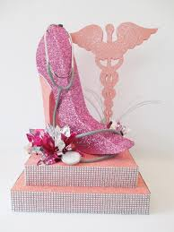 peaceful design high heel shoe centerpieces birthday party