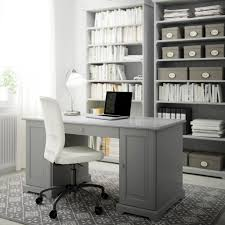Ikea Home Ideas by Desks For Home Office Ikea A Grey Home Office With Alex Desk And