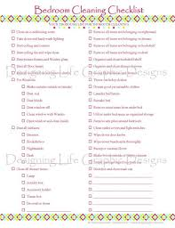 cleaning bedroom checklist bedroom cleaning checklist pdf printable by designinglife 3 00