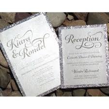 wedding invitations glitter silver glitter wedding invitations iloveprojection