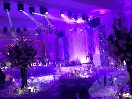wedding backdrop london wedding lighting sound stage and at the landmark hotel abc