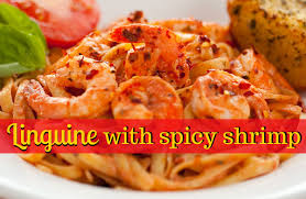 Pasta Recipes by Linguine With Spicy Shrimp Recipe Sparkrecipes